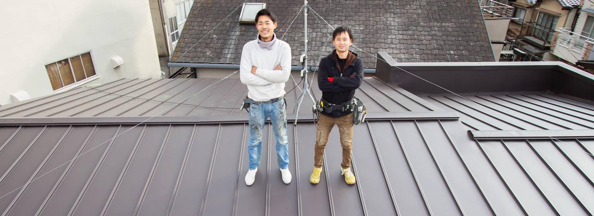 京都での屋根修理・雨漏り修理・ガルテクト施工など、山口板金への問い合わせ