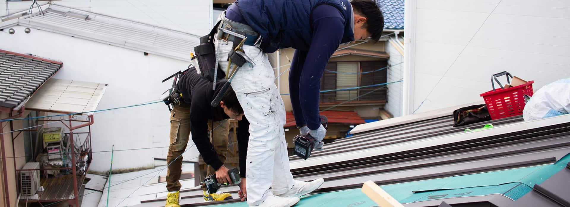京都での屋根修理・屋根リフォーム・屋根板金工事など、山口板金の施工実績