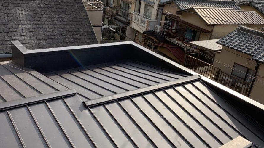 京都市右京区にて屋根修理(葺き替え工事)