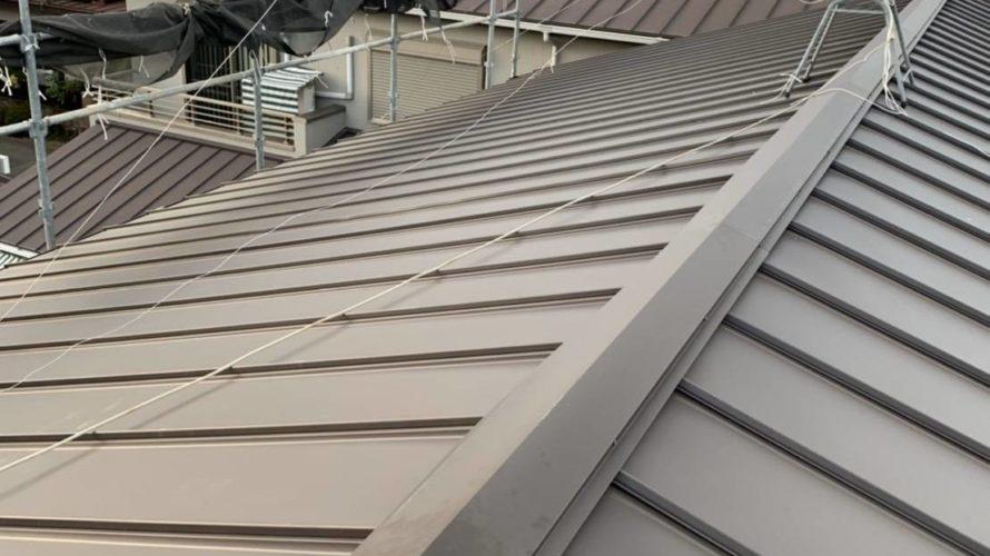 京都市南区にて屋根の葺き替え工事(立平葺き)