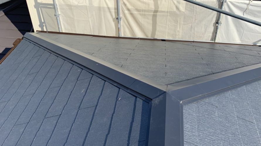 高槻市にて屋根の葺き替え工事(瓦からカラーベスト)