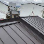 右京区にて屋根の葺き替え工事