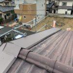 長岡京市にてケラバ板金工事