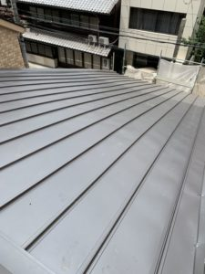 京都市中京区にて 屋根修理