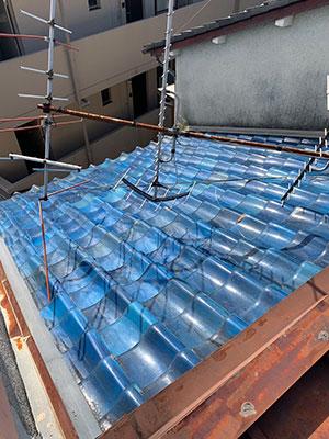屋根葺き替え工事 施工前の瓦屋根