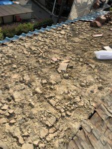 屋根軽量化工事 土葺き撤去