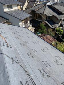 屋根軽量化工事 ルーフィング葺き