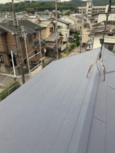 屋根軽量化工事 スーパーガルテクト葺き