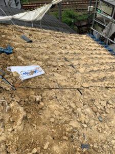 瓦からスーパーガルテクトへの葺き替え工事 土葺き撤去