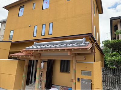京都市北区で銅板一文字葺き工事