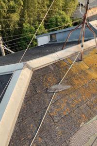 カラーベストからスーパーガルテクトへの屋根カバー工法 施工前